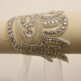 Mellisa Beaded Crystal Bracelet: Dainty, Vintage Looking Design