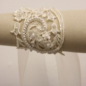 *  Ivy Vintage Embroidered, Beaded Lace Bracelet