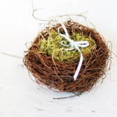 Moss Nest Ring Bearer Pillow Alternative