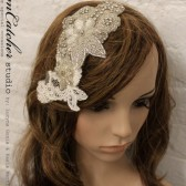 Lenna VIntage inspired hair fascinator, bridal head piece