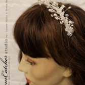 Natalia burst of crystals bridal head piece, bridal comb