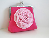 Pink Clutch upcycled