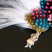 Pink Skull Hair Comb