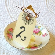 Vintage Table Number Sign Holder