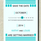 Printable Modern and Elegant Kelly Save The Date Card / Custom color / DIY Weddings / Digital Files