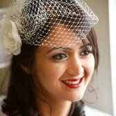 Birdcage Veil - Ivory Classic 9 inch Bridal Veil /Blusher by Mauve Binchely