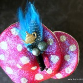 Turquoise Teapot Boutonniere - Alice in Wonderland