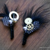 Dotty for You - Gear and Sprocket Dot Boutonniere