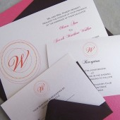 Classic Monogram Invitation Set