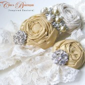 Ruffles and Lace Bridal Garter