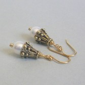 Essential Freshwater Pearl and 14K Gold Plated Dangle Earrings