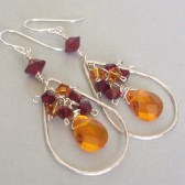 Impression Sunset Swarovski Crystal and Sterling Silver Chandelier Earrings