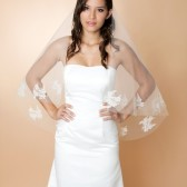 Paulina - Drop veil with Chantilly Appliques