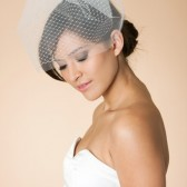 READY TO SHIP- Double Layer tulle and russian Birdcage Veil