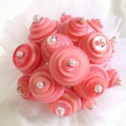 Flower girl Pink Button Bouquet