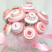 Pink and White Flower Girl Bouquet
