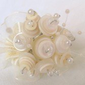 Creme and White toss bouquet