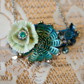 vintage brooch necklace handmade