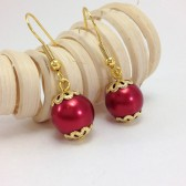Red Bridal Earrings
