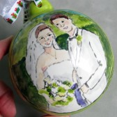 wedding portrait ornament