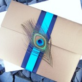 Deluxe Peacock Pocketfold Invitation Set