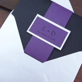 Divine Purple Pocketfold Invitation Set