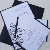 Looped Flourish Invitation Set