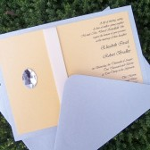 Gem RIbbon Invitation Set