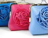 Bright colored clutch