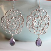 Silver Lace Earrings