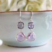 Purple Glass Earrings