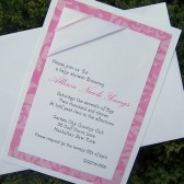 Pattern Ribbon Invitation Set