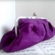 Purple framed clutch