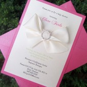 Rhinestone Bow Invitation Set