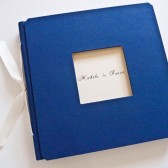 Royal Blue Window Guest Book