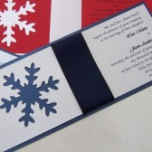 Stylish Snow Flake Invitation Set