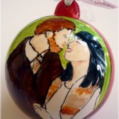 engagement portrait ornament