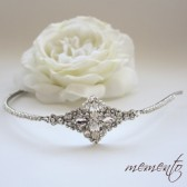 Ramona Swarovski Rhinestones Headband by Mauve Binchely / Bridal Hair Accessories / Weddings / Beautiful Vintage Look