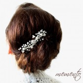 Aileen Swarovski Elements and Ivory Roses Bridal Hair Comb by Mauve Binchely / Beautiful Side Piece/ Weddings