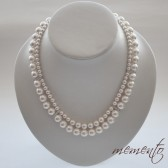 Lavinia Swarovski Pearl Necklace and Cubic Zirconia Elements by Mauve Binchely / Two strand necklace / Wedding Accessories / Bridal Jewelry