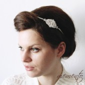 Grace Swarovski Elements Headband by Mauve Binchely / So classic and elegant / Vintage look / Available as Hair Comb and Boooch