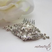Grace Swarovski Elements Hair Comb by Mauve Binchely / So classic and elegant / Vintage look / Available as Headband and Boooch