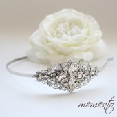 Beautiful Bridal Headband Inspired from Hollywood / Vintage Touch with Swarovski Rhinestones by Mauve Binchely