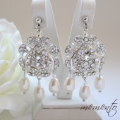 Gorgeous / Glamorous Earrings with Swarovski Elements by Mauve Binchely