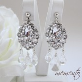 Beautiful Swarovski Crystals and Swarovski Rhinestones Bridal Earrings by Mauve Binchely
