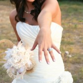 White and Ivory Paper and Feather Bouquet