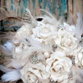 White, Cream and Ivory Paper Flower Bouquet