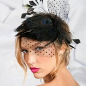 mini black cocktail hat