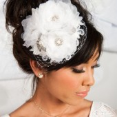 mini bridal hat