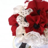 Poppy fabric flower bouquet